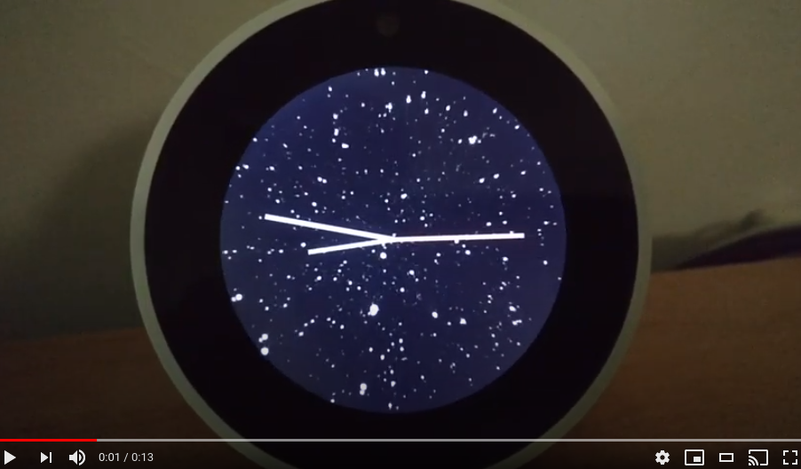 Starfield Clock